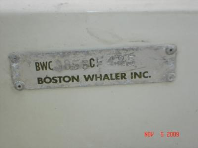 Whaler Serial Number - Moderated Discussion Areas